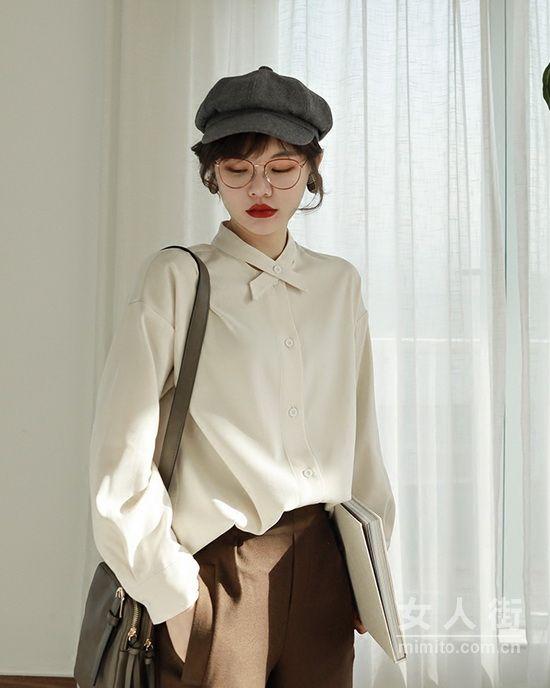 女性衬衫搭配,春季经典时髦感穿搭