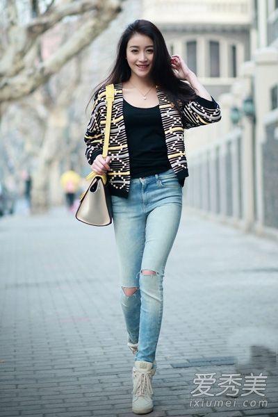 上海三月街拍 跟时尚美妞学春季穿衣经