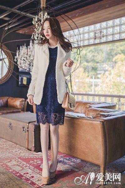 小西装+短裙 引领早春时尚OL风